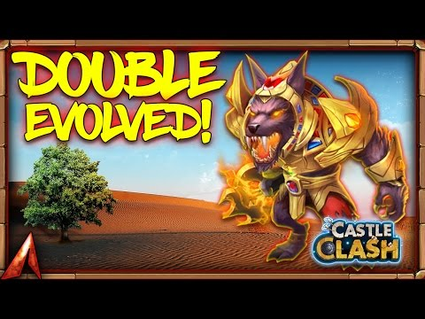 New Hero Anubis Double Evolved Gameplay! Castle Clash Update Today!