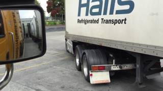 Halls Truck Driver Trying To Back Up A B Train