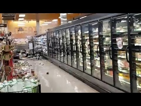 Alaska earthquake in Anchorage aftermath: VIDEO