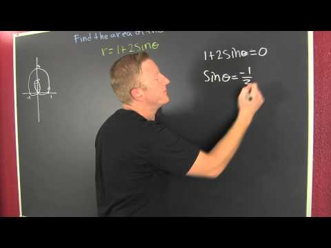 Find the Area Using Polar Coordinates for the inner loop of r=1+2sinx