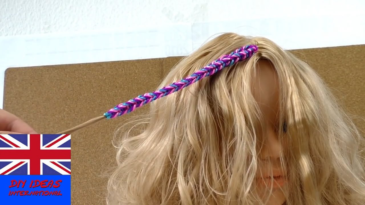 Loom Band Hair Extensions Tutorial How To Make Loom Band Hair