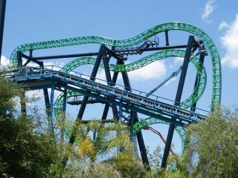 Green Lantern and Superman: Escape From Krypton Pov from Six Flags Magic Mountain 2011