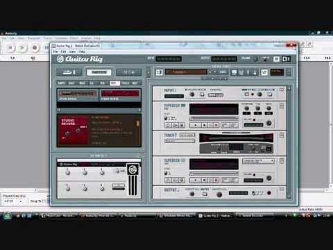 how to host guitar rig with audacity youtube. Black Bedroom Furniture Sets. Home Design Ideas