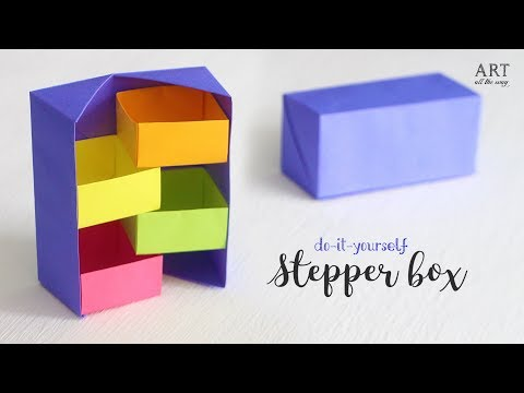 DIY Secret Stepper Box | Paper Craft | Secret Box