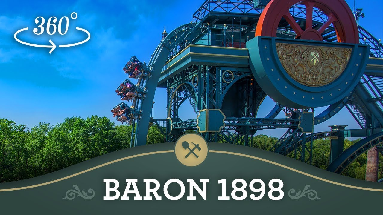 baron 1898 in 360176 efteling onride youtube