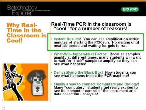 Discover Real-Time PCR for the Classroom