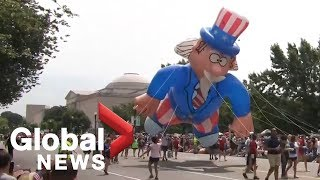 Americans celebrate Independence Day with parade in Washington, D.C.