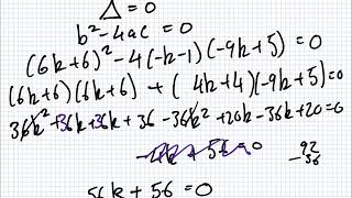 Maths for Science | 1819 Intake 1 | Tutorial | Up to and including Discriminant