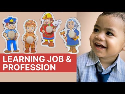 Toddler Activity   Learning Job & Profession   Wooden Puzzle Toy