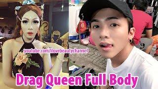 Drag Queen Transformation Full Body