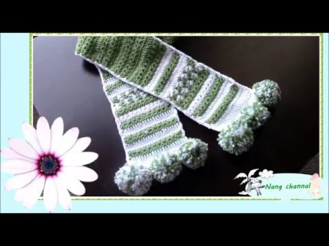 daisy stitch scarf  part 1 ผ้าพันคอลายดอกเดซี่ 1
