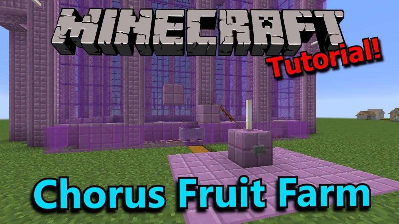 Tutorials Chorus Fruit Farming Official Minecraft Wiki