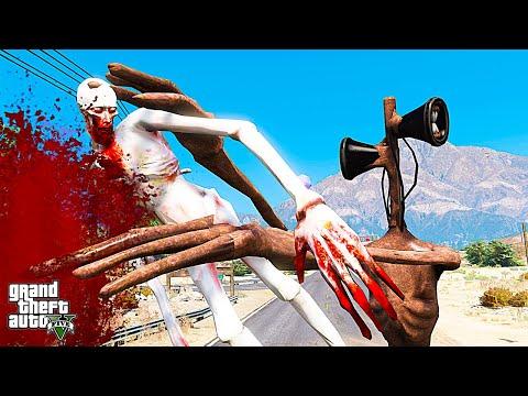 ГТА 5 МОДЫ СИРЕНОГОЛОВЫЙ ПРОТИВ СКРОМНИК СЦП 096! SIREN HEAD ОБЗОР МОДА В GTA 5! ВИДЕО ИГРЫ ГТА MODS