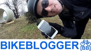 Busted My Phone Screen! Train Parked? Commuting Bike Blogger