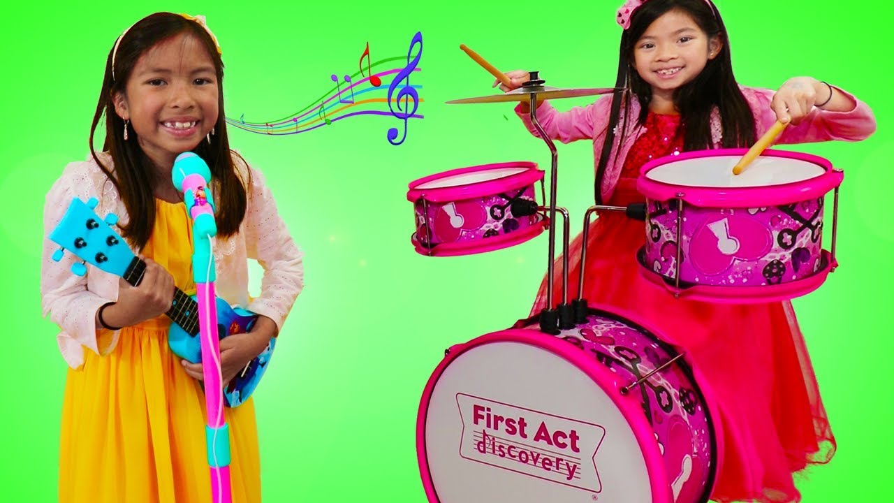 Emma Wendy Pretend Play With Musical Instrument Toys For