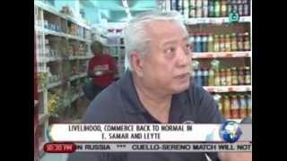 NewsLife: Livelihood, commerce back to normal in Eastern Samar & Leyte || July 29, 2014