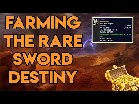 World Of Warcraft How To Farm The Rare Sword Destiny Worth 100,000 Gold