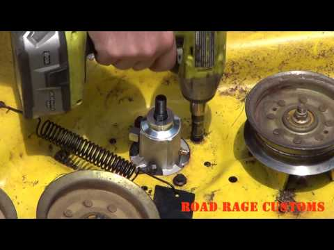 John Deere D170 Mower Deck DIY Repair and Maintenance Upgrade How to