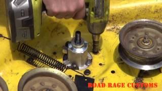 John Deere D170 Mower Deck DIY Repair and Maintenance Upgrade How to