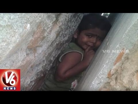 Child Stuck Between Two Walls In Kadapa District | V6 News