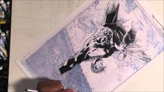 Jim Lee inking challenge inking process