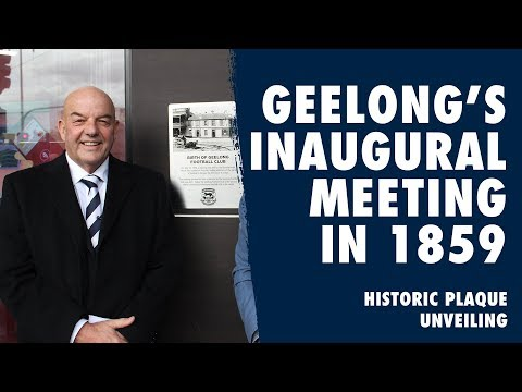Geelong's Inaugural Meeting In 1859 - Historic Plaque Unvieled | 2019 | Geelong Cats Football Club