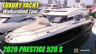 2020 Prestige 520 S Luxury Yacht - Interior Walkaround - 2020 Miami Yacht Show