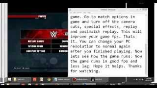WWE 2K15 PC lag fix | Low End PC