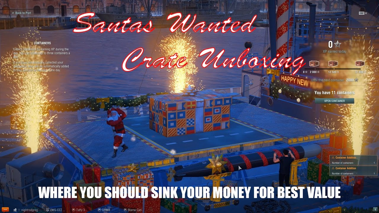 Christmas Crates 2020 World Of Warships World of Warships Santas Wanted Crates and Which to Buy   YouTube