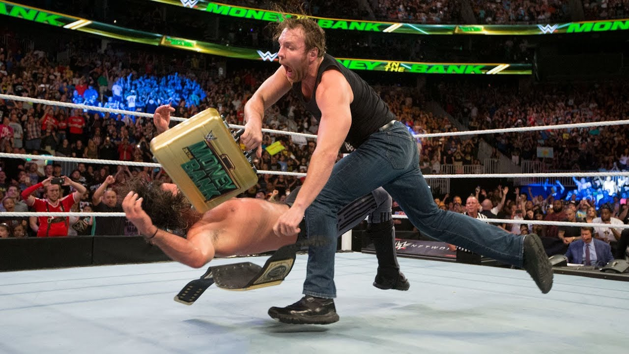 Download Dean Ambrose turns the briefcase into a championship-winning weapon: WWE Money in the Bank 2016