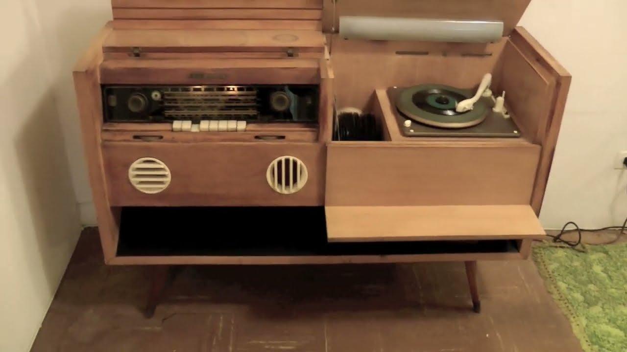 1957 Grundig Majestic vintage tube radio console  YouTube