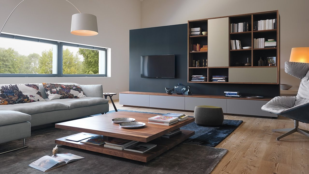 team 7 cubus wohnwand c3 couchtisch youtube. Black Bedroom Furniture Sets. Home Design Ideas