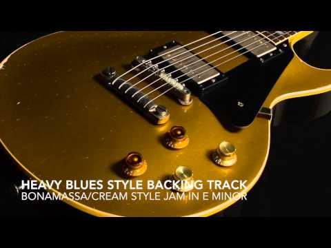 Heavy Blues/Rock Style Backing Track in E Minor