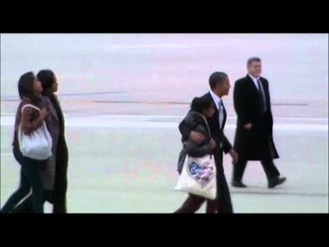 Raw: First Family Leaves Chicago