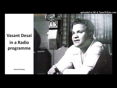Vasant Desai in a radio programme