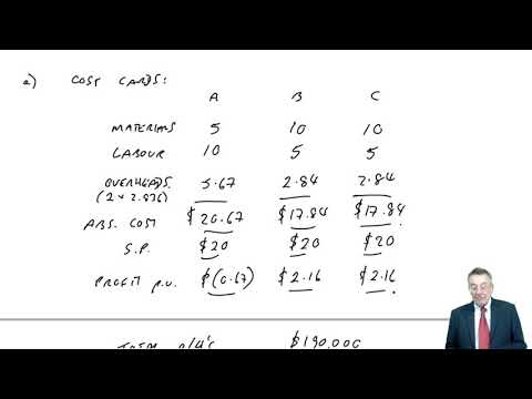 Activity Based Costing & Activity Based Management - CIMA P2