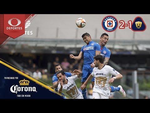 Resumen: Cruz Azul 2 - 1 Pumas Clausura 2019 - J15 | Presentado por Corona
