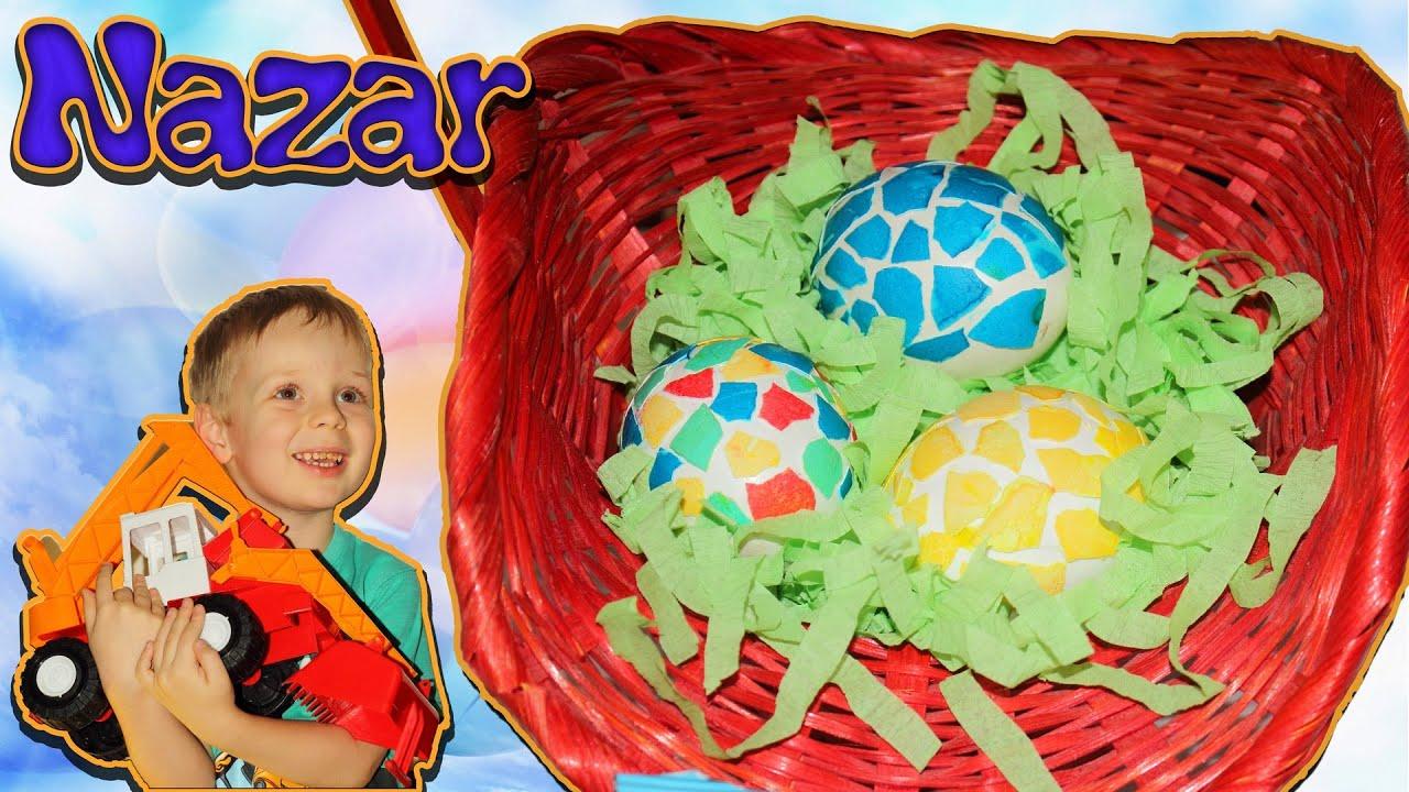 Украшаем яйца на пасху(пасхальные яйца с мозаикой ...