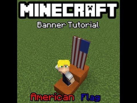 Minecraft: Banner Tutorial: American Flag!