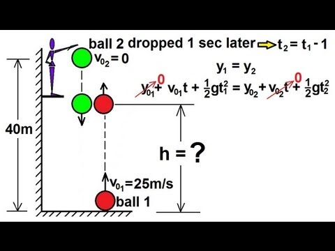 Physics - Mechanics: Motion In One-Dimensions (21 of 22) Two Objects