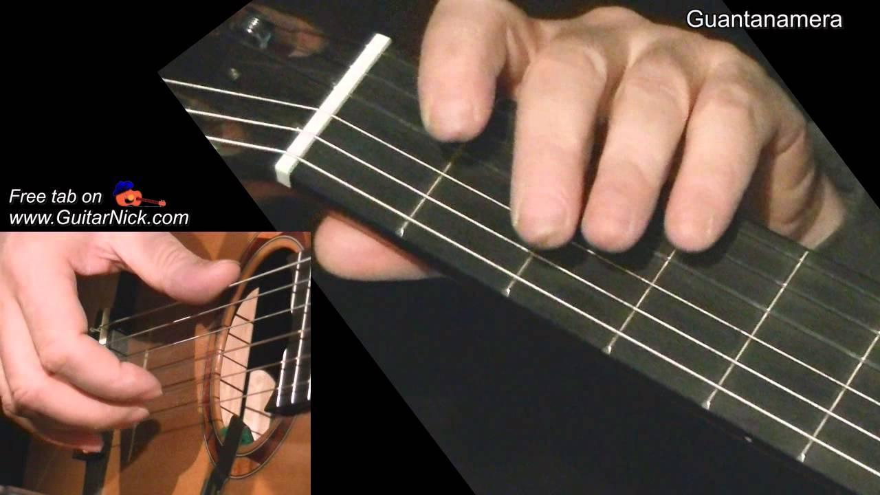 Guantanamera Easy Guitar Lesson Tab By Guitarnick Chords Chordify