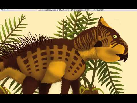Time Lapse Leptoceratops Painting