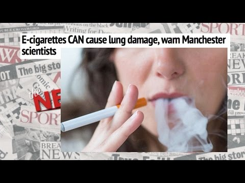 The Newspapers: E-cigarettes cause lung damage?