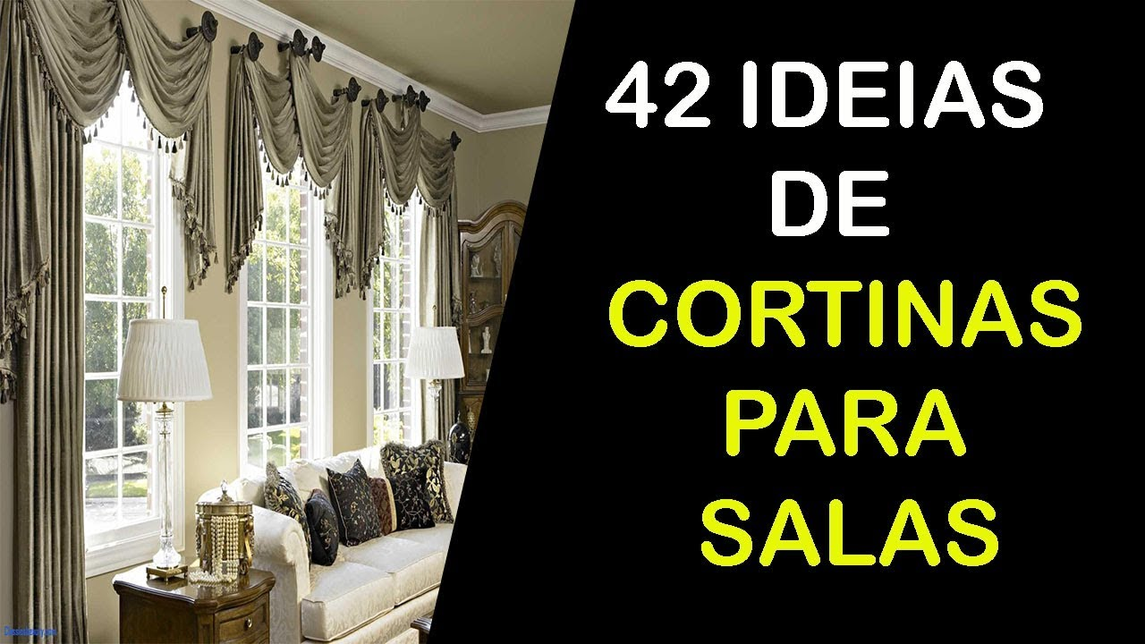 42 ideias de cortinas para sala de estar e jantar youtube for Cortinas para sala de estar
