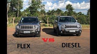 Jeep Renegade 1.8 Flex Anda Mais Que O Diesel?? Flex Vs Diesel!!!