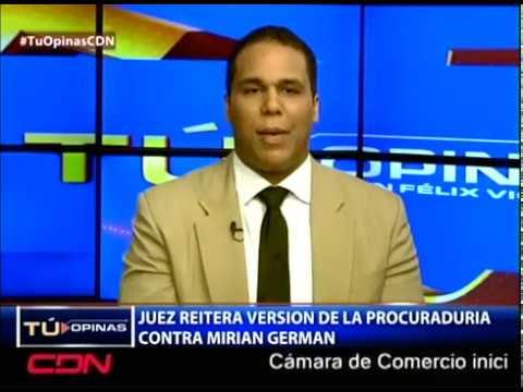 Juez reitera versión de la Procuraduría contra jueza Miriam Germán