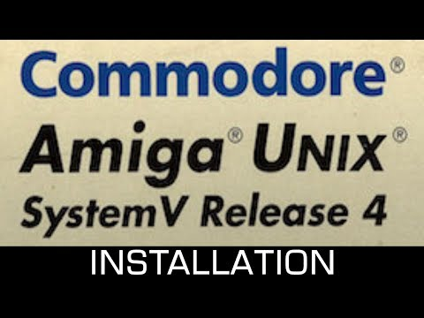 Amiga UNIX (AMIX, 1992) install using WinUAE