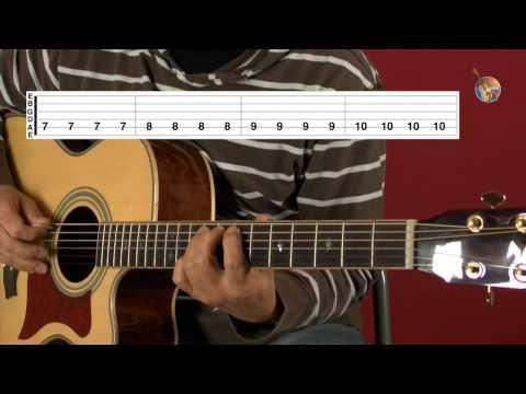 Gitarre spielen lernen für Anfänger: die Kletterübung • mit Guitar-TV, ohne Note!