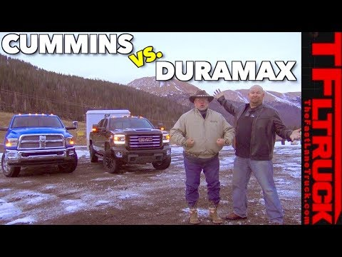 GMC Sierra Duramax Diesel vs Ram Cummins HD vs World's Toughest Towing Test