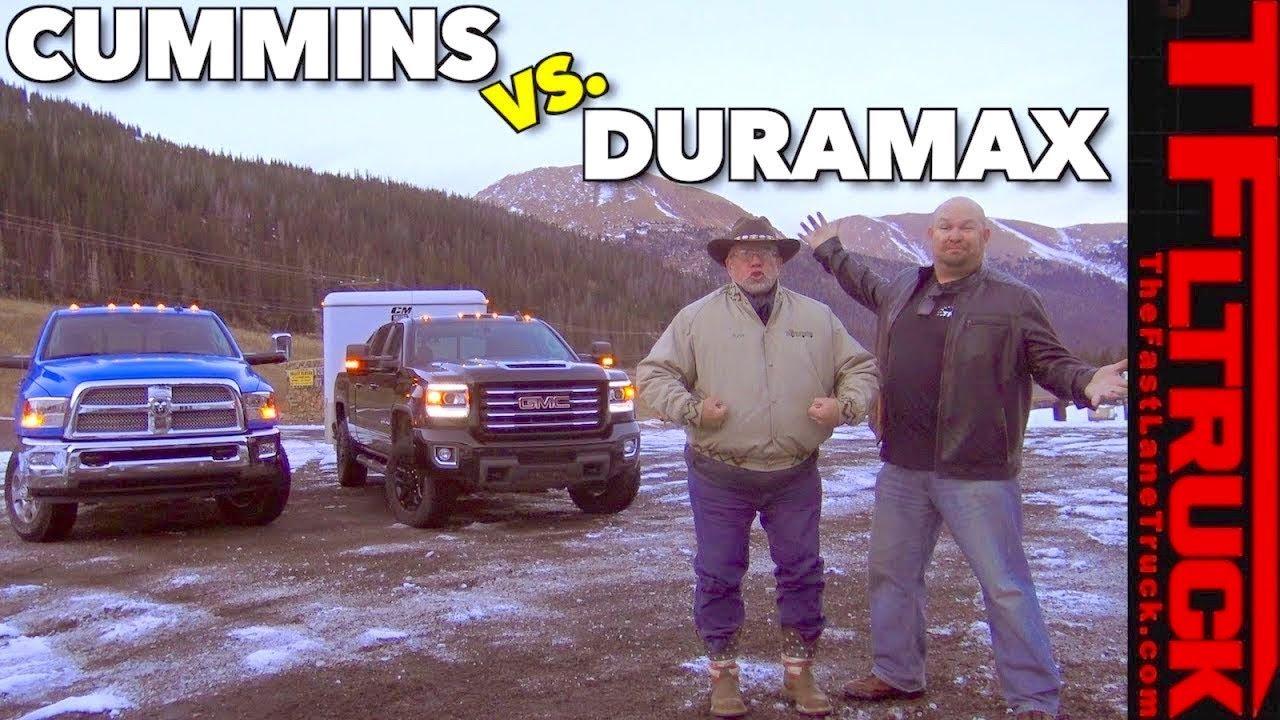 GMC Sierra Duramax Diesel vs Ram Cummins HD vs World's Toughest Towing Test